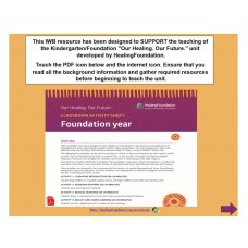 Foundation/Kindergarten: Our Healing. Our Future.