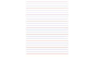 Hand writing lines