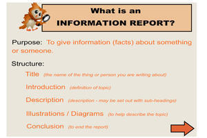 how to introduce a report
